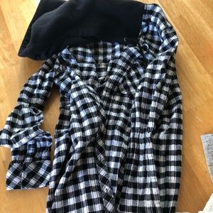 Volcom size small button up hoodie